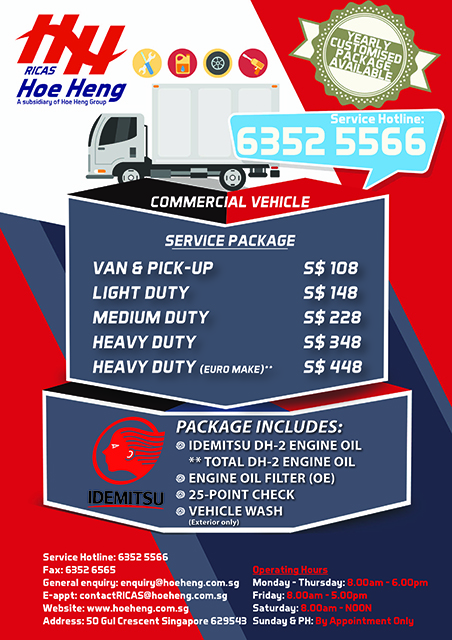 Truck Servicing Packages in Singapore